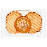 2 Chicken & Mushroom Slices 260g