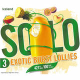 Iceland 3 Solo Exotic Burst Lollies 300ml