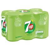 7UP Free Lemon & Lime Can 6x330ml
