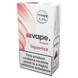 88Vape E-Liquid 11mg Liquorice 10ml