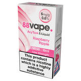 88Vape AnyTank E-Liquid 6mg Raspberry Ripple 10ml