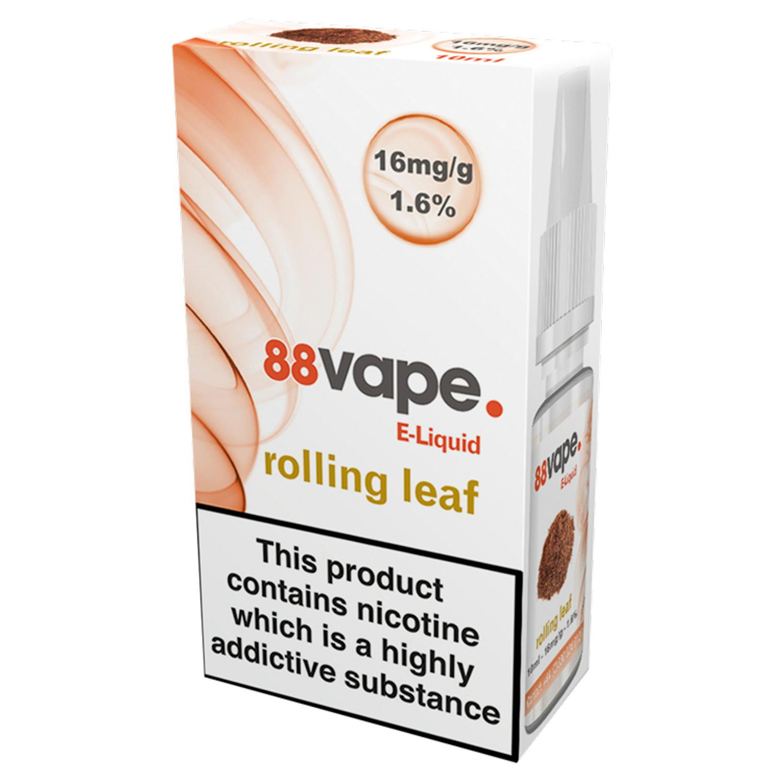 88Vape E-Liquid 16mg Rolling Leaf 10ml | Electronic Cigarettes