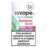 88Vape AnyTank E-Liquid 6mg Rainbow Burst 10ml