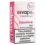 88Vape Original E-Liquid 11mg Liquorice 10ml