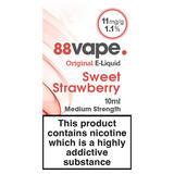 88Vape Original E-Liquid 11mg Sweet Strawberry 10ml