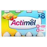 Actimel 0% Fat No Added Sugar Multifruit 8 x 100g (800g)