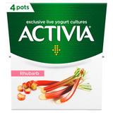Activia Rhubarb Yogurt 4 x 120g (480g)