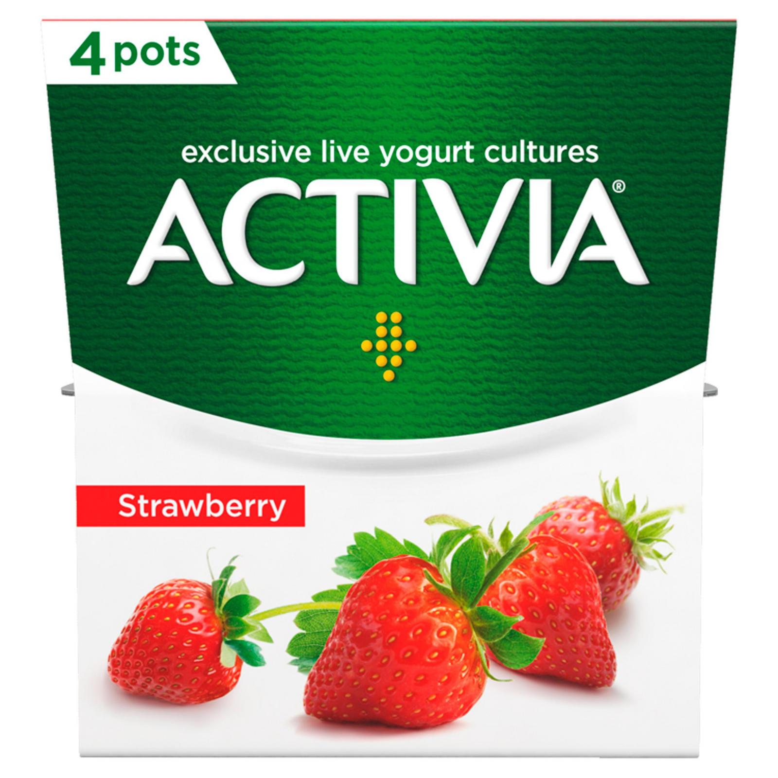 Activia Strawberry 4 x 120g (480g)