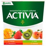 Activia Mango, Strawberry, Kiwi and Apricot Yogurt 8 x 120g (960g)
