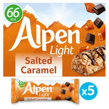 Alpen 5 Light Salted Caramel Bars 95g