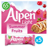 Alpen 5 Light Summer Fruits Bars 95g