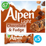 Alpen Light Bars Chocolate & Fudge Multipack 5x19g