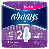 Always Ultra Long (Size 2) Sanitary Towels Wings 12 Pads