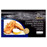 Arctic Royal 2 Jumbo Battered Cod Fillets 500g