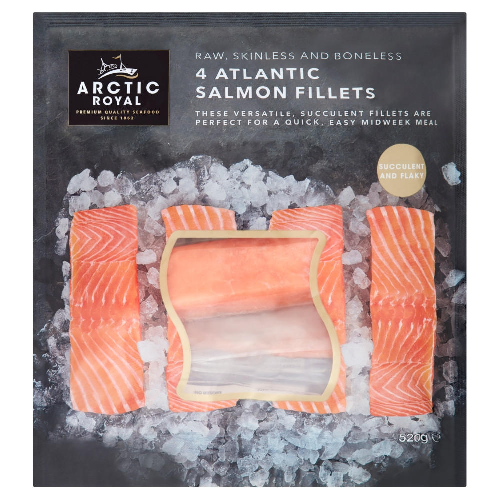 Arctic Royal 4 Atlantic Salmon Fillets 520g | Fish Fillets