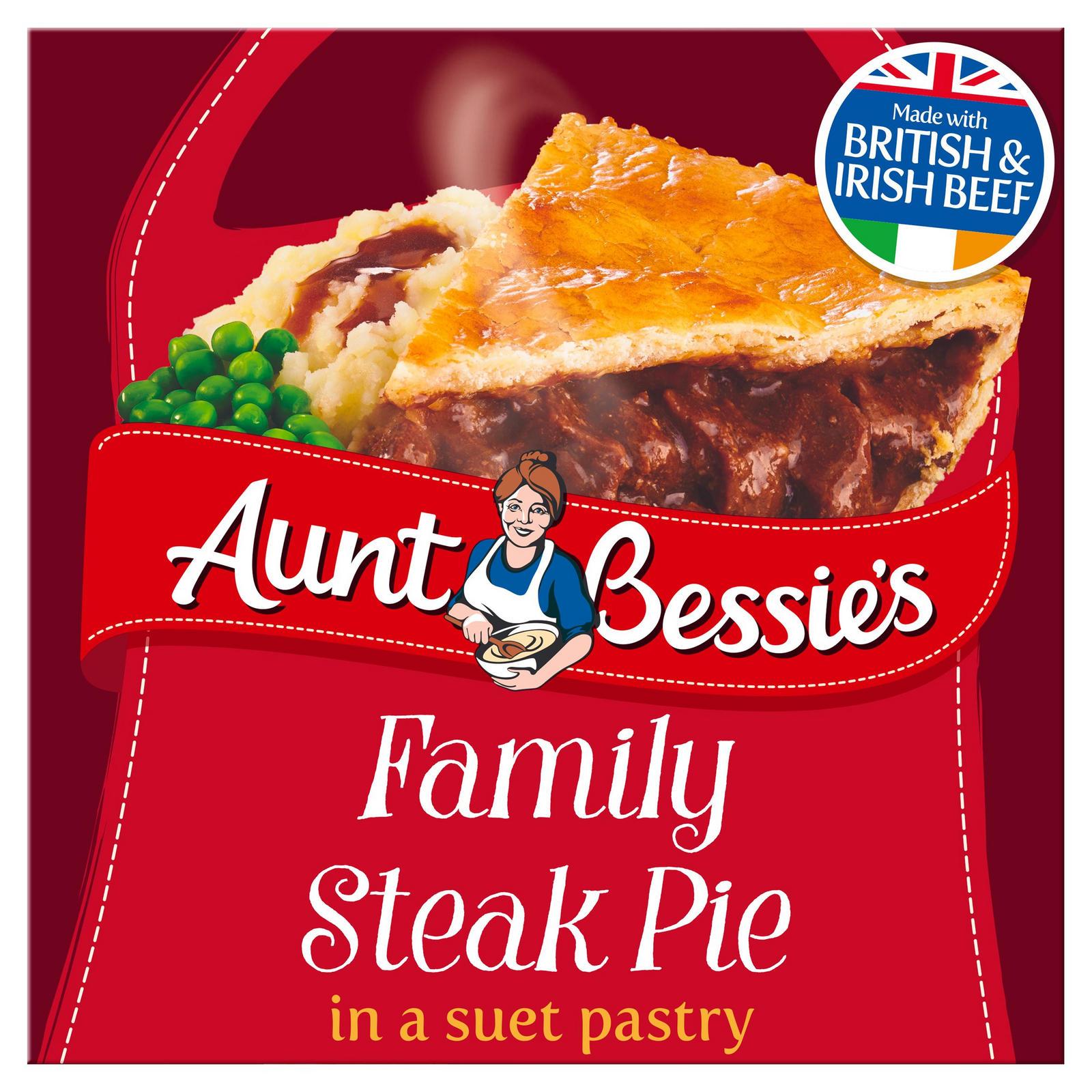 Aunt Bessie's Family Steak Pie in a Suet Pastry 650g ...