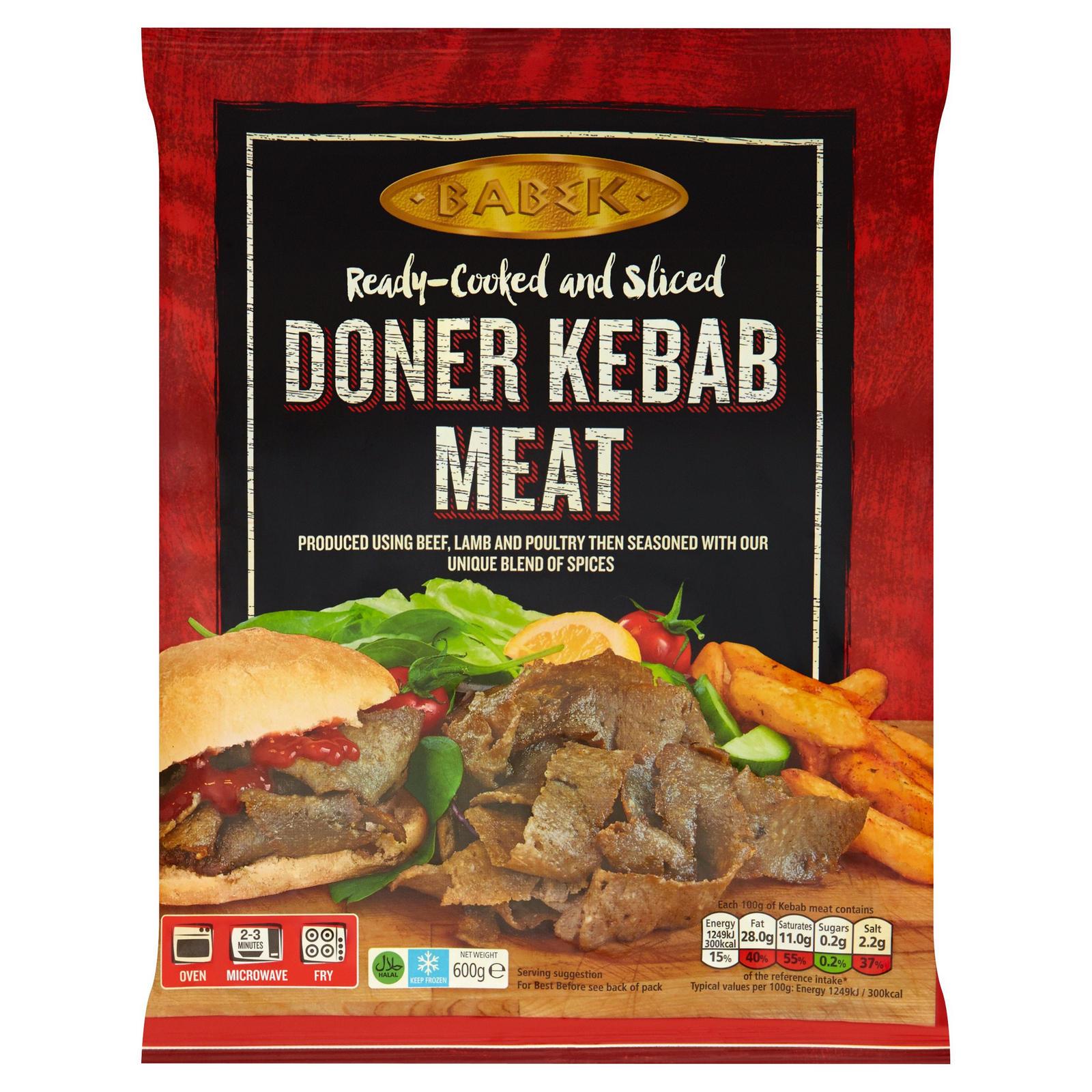 Babek Doner Kebab Meat 600g | Beef | Iceland Foods