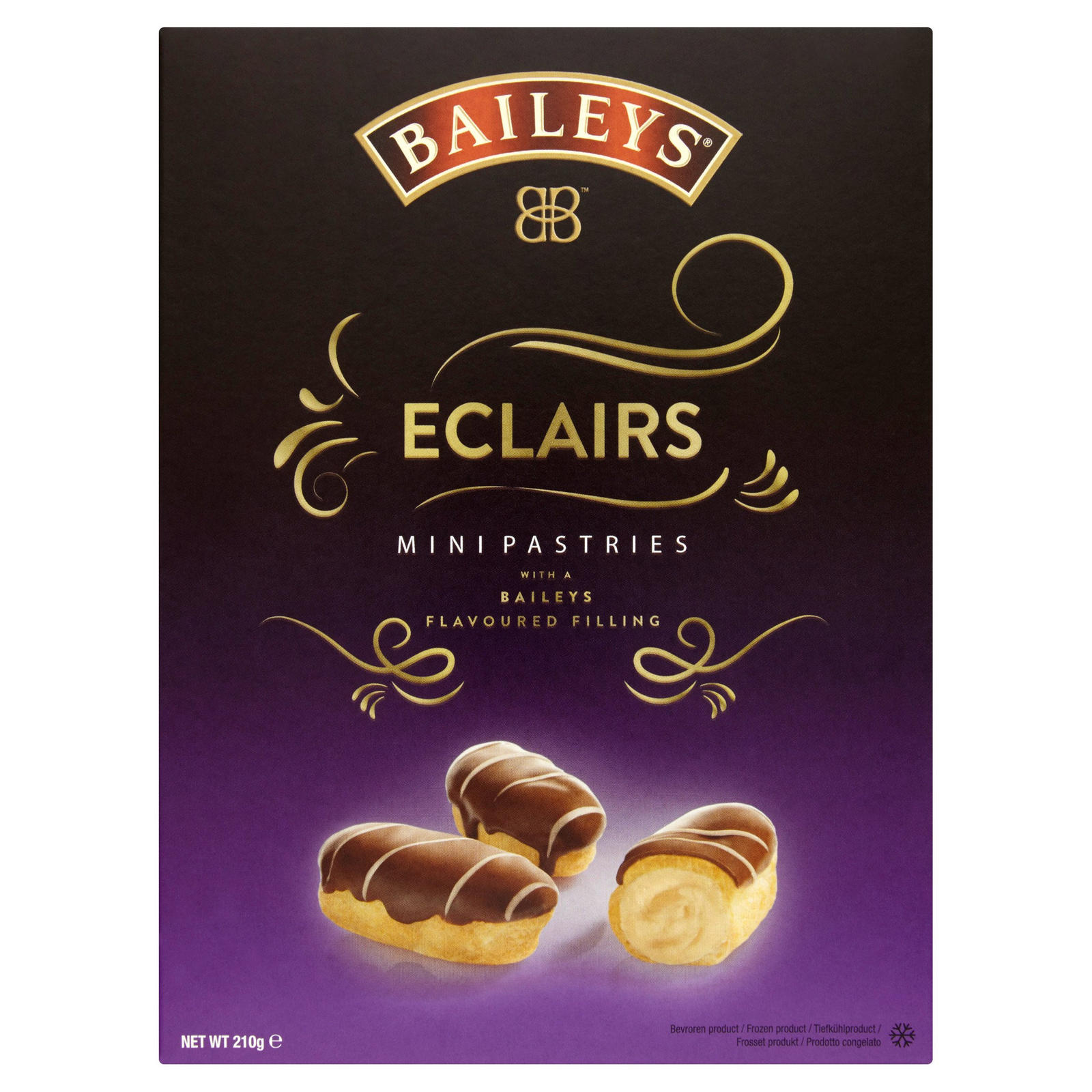 Baileys Eclairs Mini Pastries with a Baileys Flavoured Filling 210g | Desserts | Iceland Foods