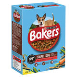 Bakers Small Dry Dog Food Beef and Veg 1.1kg
