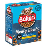 Bakers Meaty Meals Adult Dry Dog Food Chicken 1kg