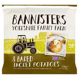 Bannisters Yorkshire Family Farm 8 Baked Jacket Potatoes 1.2kg