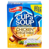 Batchelors Cup a Soup Chicken & Vegetable with Croutons 4 Pack 110g