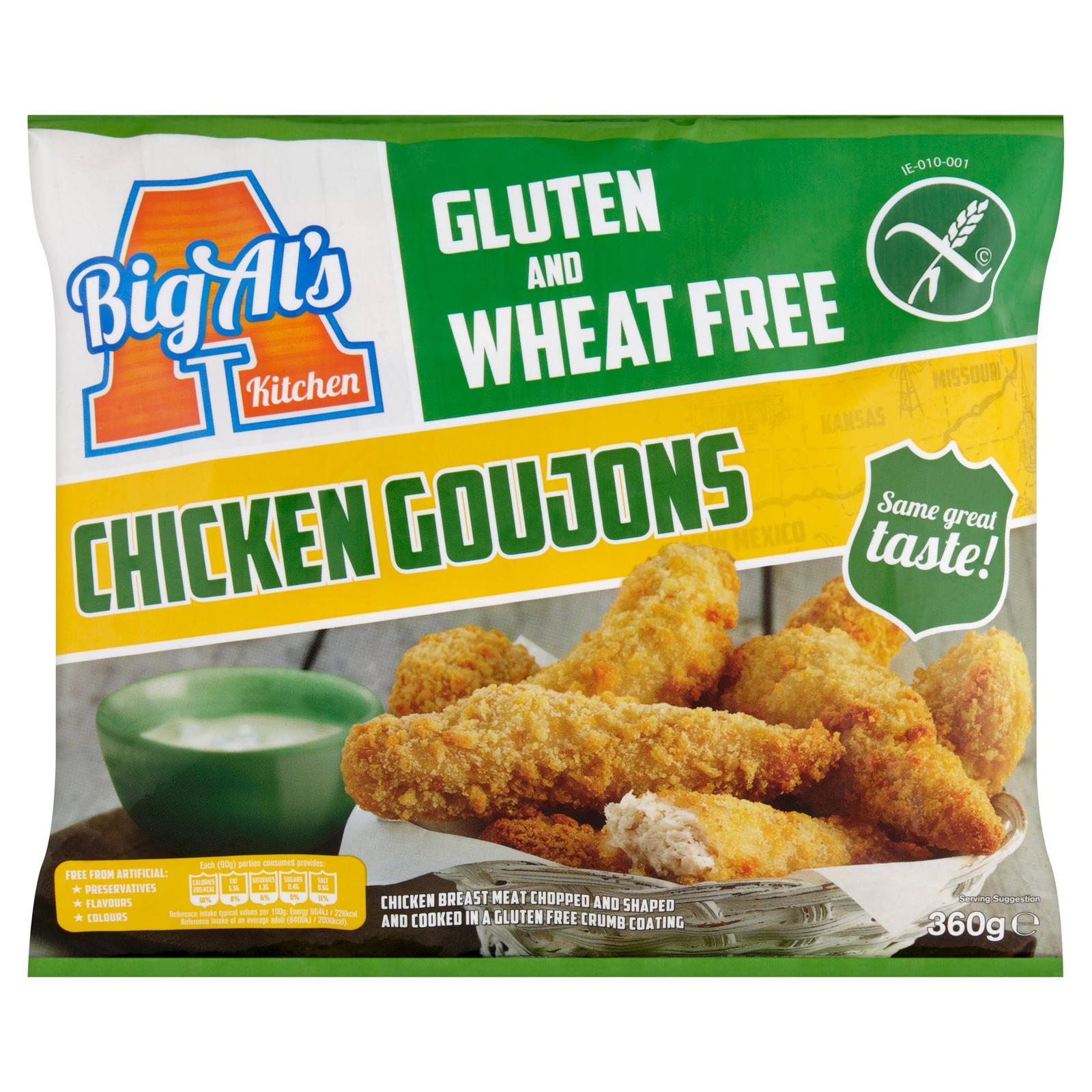 Big Al S Kitchen Gluten And Wheat Free Chicken Goujons 360g