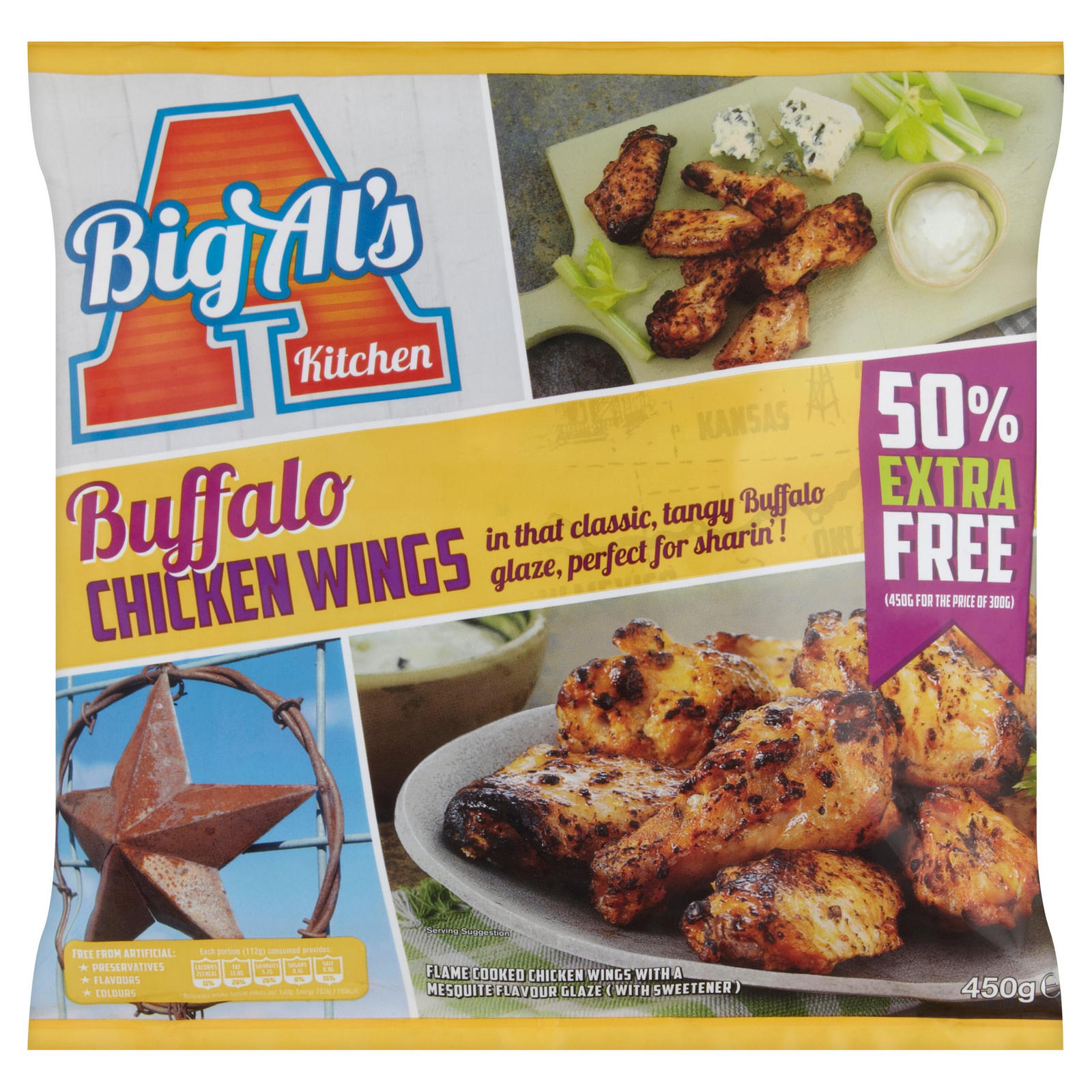 Big Al S Kitchen Buffalo Chicken Wings 450g Chicken