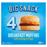 Big Snack 4 Breakfast Muffins with Sausage & Egg 600g
