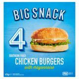Big Snack 4 Southern Fried Chicken Burgers 476g