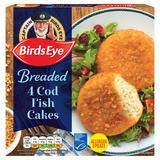 Birds Eye Breaded 4 Cod Fish Cakes 198g