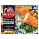 Birds Eye 4 Breaded Haddock Large Fillets 440g