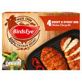 Birds Eye 4 Sweet & Sticky BBQ Chicken Chargrills 348g