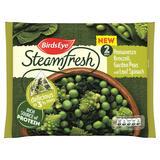 Birds Eye Steamfresh Romanesco Broccoli, Garden Peas and Leaf Spinach 2 Bags 300g