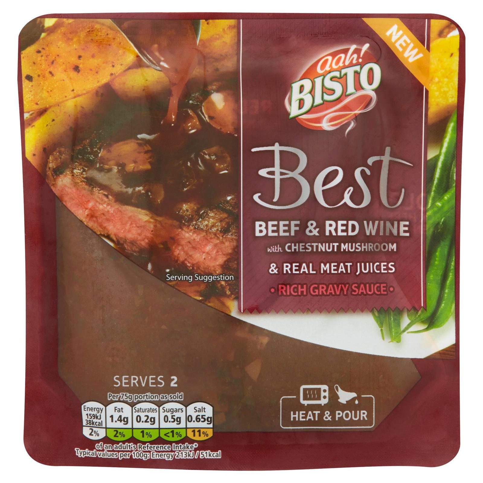 Bisto Best Beef Red Wine Gravy Sauce 150g Gravy Stock