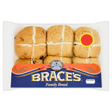 Brace's Family Bread 6 Hot Cross Buns 360g