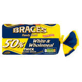 Brace's Family Bread 50% White & Wholemeal Thick Sliced Bread 800g