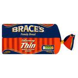 Brace's Family Bread Luxury Thin White Sliced Bread 800g