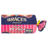 Brace's Family Bread Luxury XX Thick White Sliced Bread 800g