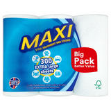Maxi 300 Extra Large Sheets 3 Rolls