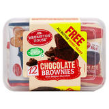 Chocolate Brownies with Belgian Chocolate + 1 Free Sweet Heart 12 x 25g (300g + 11g)