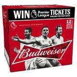 Budweiser Lager Beer Bottles - Premier League Edition 12 x 300ml