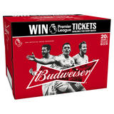 Budweiser Lager Beer Bottles - Premier League Edition 20 x 300ml