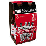 Budweiser Lager Beer Bottles - Premier League Edition 4 x 300ml