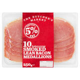 The Butcher's Market 10 Smoked Lean Bacon Medallions 250g