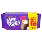 Cadbury Raspberry Mini Rolls x 10