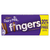 Cadbury Dairy Milk Chocolate Fingers Biscuits 138g (114g + 20% Extra Free)