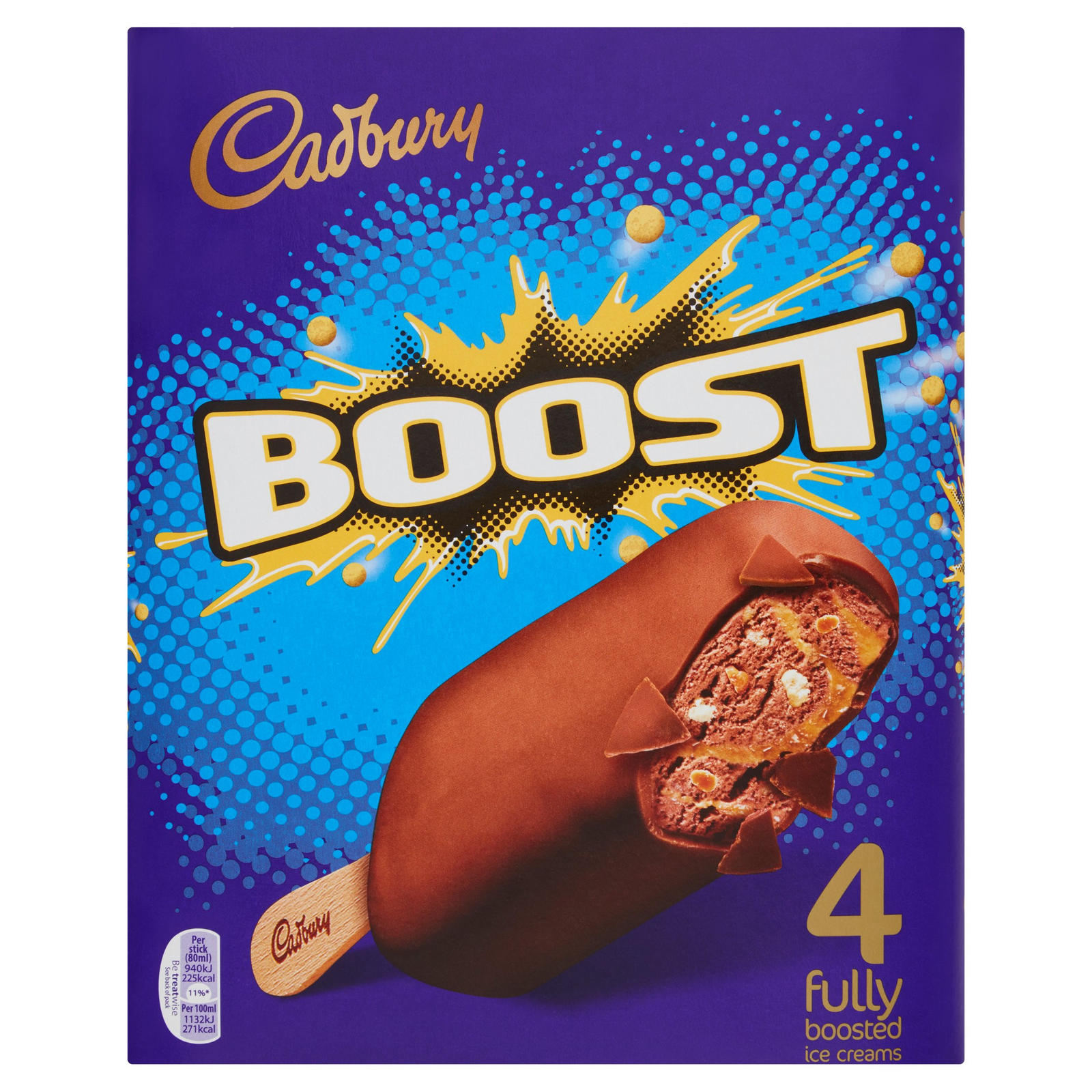 Cadbury Boost Fully Boosted Ice Creams 4 X 80ml 320ml
