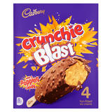 Cadbury Crunchie Blast with Popping Candy Fun-Filled Ice Creams 4 x 100ml (400ml)
