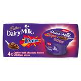 Cadbury Dairy Milk Daim Chocolate Desserts 4 x 90g
